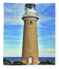 Light House At Cape Du Couedic Fleece Blanket