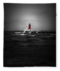 Lighthouse Glow Fleece Blanket