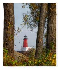 Lighthouse Mist Fleece Blanket