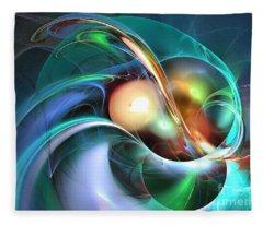 Limbo Of Oblivion Abstract Art Fleece Blanket