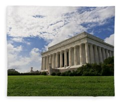 Lincoln Memorial And Sky Fleece Blanket