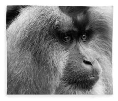 Lion-tailed Macaque Fleece Blanket