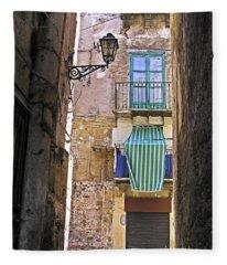 Little Street Of Palermo Fleece Blanket