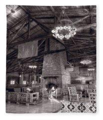 Lodge Starved Rock State Park Illinois Bw Fleece Blanket