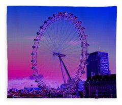 London Eye View Fleece Blanket