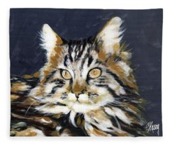 Looking At Me? Fleece Blanket