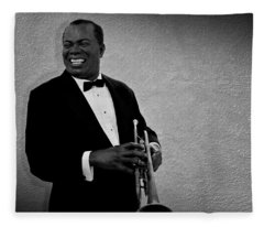 Louis Armstrong Bw Fleece Blanket