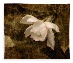 Love Letter Ix Cape Jasmine Gardenia Fleece Blanket