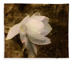 Love Letter Viii Cape Jasmine Gardenia Fleece Blanket