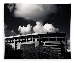 Lsu Tiger Stadium Black And White Fleece Blanket