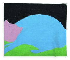 Lucky Cat Fleece Blanket