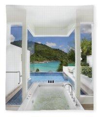 Luxury Bathroom  Fleece Blanket