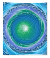 Mandala Spin Fleece Blanket