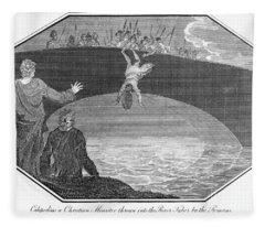Martyrdom Of Calepodius Fleece Blanket
