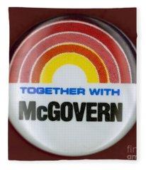 Mcgovern Campaign Button Fleece Blanket
