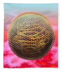 Measles Virus Fleece Blanket