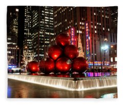 Merry New York City Christmas Fleece Blanket