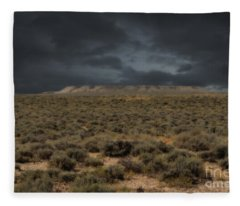 Midnight On The Pairie In Wyoming Fleece Blanket