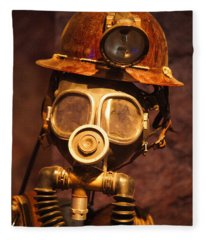 Mining Man Fleece Blanket