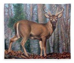 Missouri Whitetail Deer Fleece Blanket