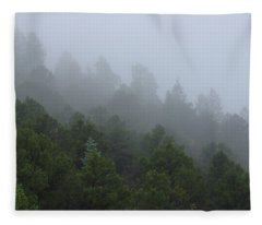 Misty Mountain Morning Fleece Blanket