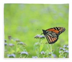 Monarch And Mist Fleece Blanket