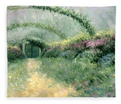 Monet's Trellis IIi Fleece Blanket