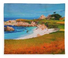 Monterey Peninsula Fleece Blanket
