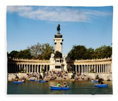 Monument To Alfonso Xii Fleece Blanket