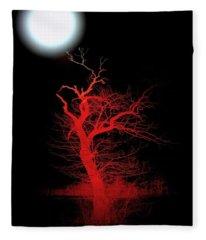 Moonlight Over Witchwood Fleece Blanket