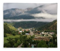 Morning Clouds Over Red River Fleece Blanket
