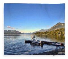 Mornings In British Columbia Fleece Blanket