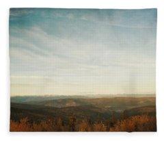 Mountains As Far As The Eye Can See Fleece Blanket