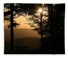 Mt Pisqah Sunset Fleece Blanket