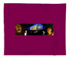 Mural - Night Fleece Blanket