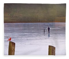 My First Walk On Water Fleece Blanket