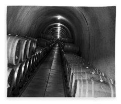 Napa Wine Barrels In Cellar Fleece Blanket