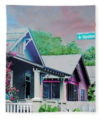 Napoleon Street Beauregard Baton Rouge Fleece Blanket