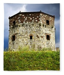 Nebojsa Tower In Belgrade Fleece Blanket