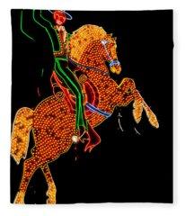 Neon Cowboy Las Vegas Fleece Blanket