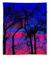 Neon Sky Fleece Blanket