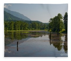 Nicomen Slough 2 Fleece Blanket