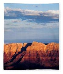 North Rim At Sunset Fleece Blanket