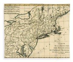 Northeast Coast Of America Fleece Blanket