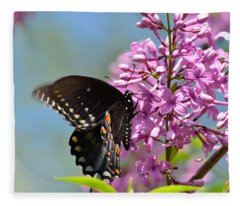 Nothing Says Spring Like Butterflies And Lilacs Fleece Blanket