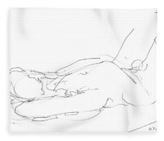 Nude-male-drawings-12 Fleece Blanket