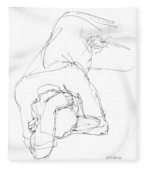 Nude Male Drawings 7 Fleece Blanket