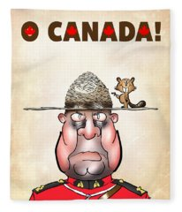 O Canada Fleece Blanket