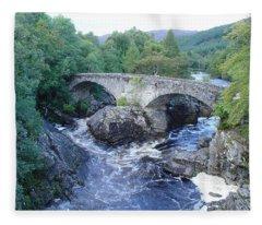 Old Bridge At Invermoriston Fleece Blanket