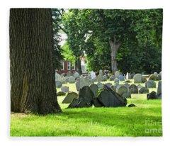 Old Cemetery In Boston Fleece Blanket